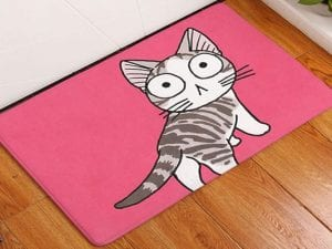 Pink Cartoon Kitty Pet Rug