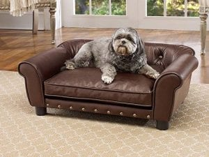 Brisbane Tufted Mini Sofa Dog Bed