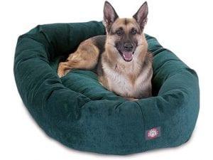 Villa Bagel Plush Dog Bed