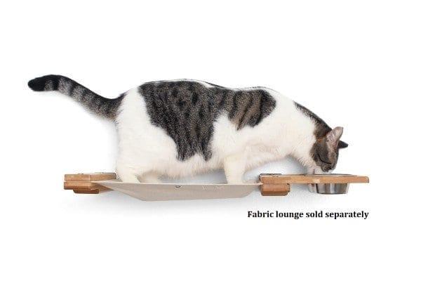 Wooden Cat Shelf Feeder
