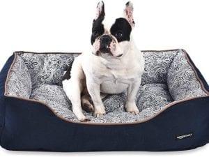 AmazonBasics Cuddler Bolster Pet Bed