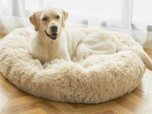 ANWA Plush Round Dog Bed