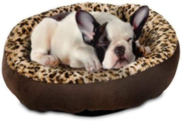 Aspen Pet Round Animal Print Pet Bed