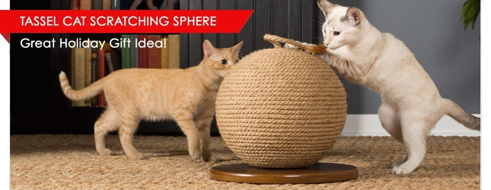 Tassel Cat Scratching Sphere