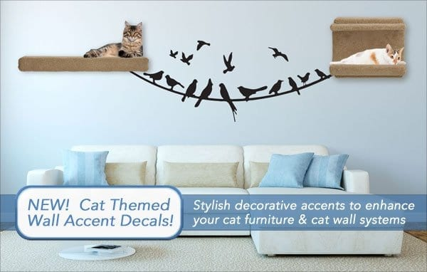 cat themed wall decals