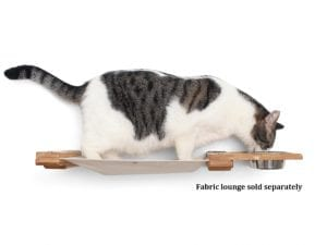 Wall-Mounted Cat Shelf and Feeder