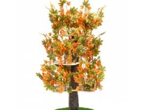Luxury Cat Tree (Large) - Round Base with Summer Leaves