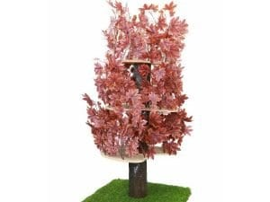 Luxury Cat Tree (Large) - Square Base with Autumn Leaves
