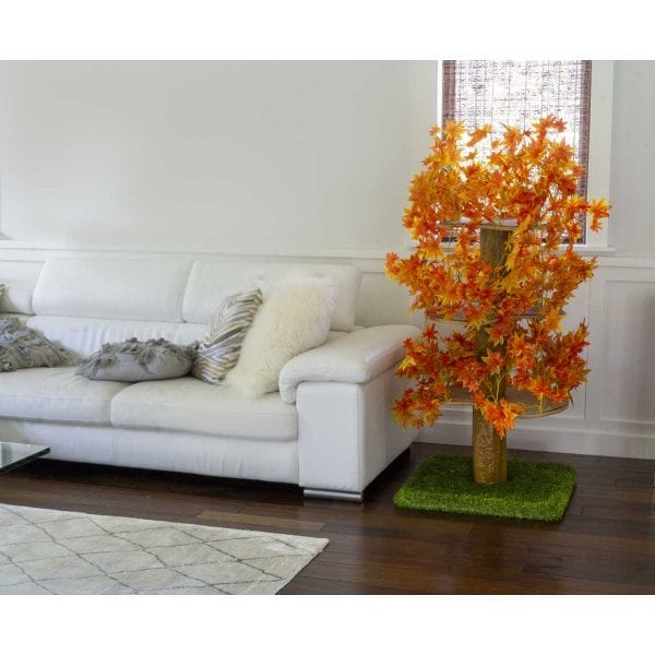 Luxury Cat Tree (Large) - Square Base with Fall Leaves