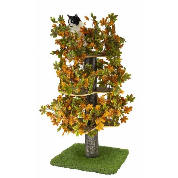 Luxury Cat Tree (Large) - Square Base with Summer Leaves