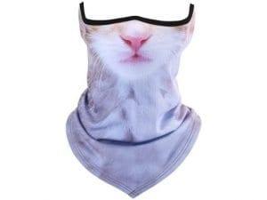 Unisex Cat Print Half Face Mask