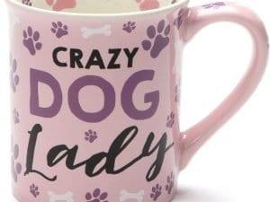 """""""Crazy Dog Lady"""" 16oz. Ceramic Coffee Mug"""