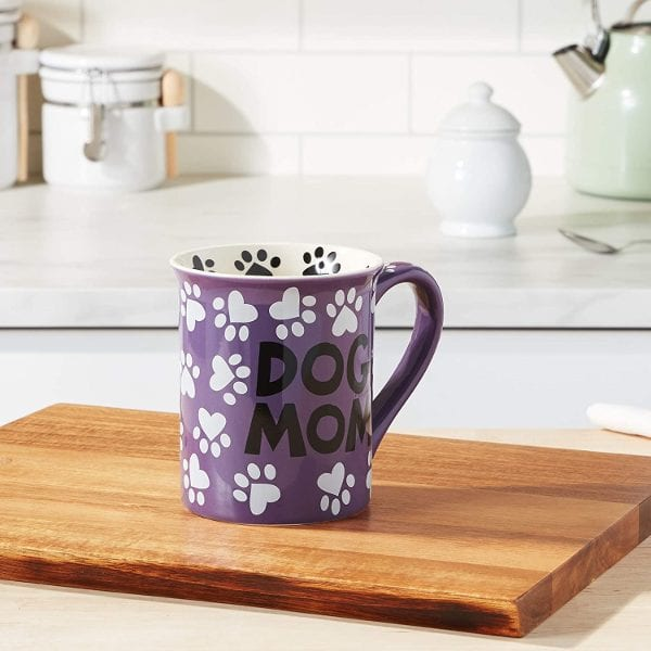 """Dog Mom"" 16 oz. Stoneware Mug"