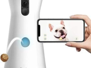 Furbo Alexa-Enabled Treat-Tossing Dog Camera w/ Wifi and 2-way Audio