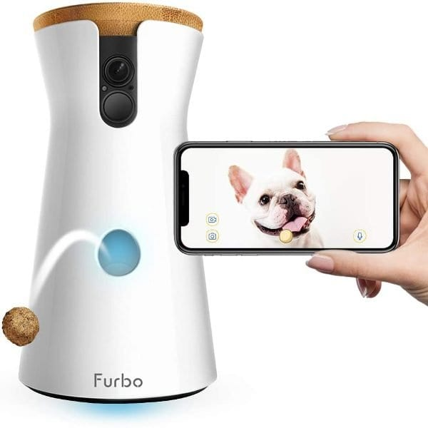 Furbo Alexa-Enabled Treat-Tossing Dog Camera w/ Wifi and 2-way Audio