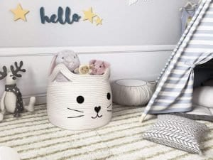 HiChen Large Woven Cotton Rope Storage Basket