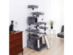 Made4Pets Multi-Level Cat Tree Tower with Feeding Bowl