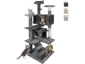 53 Inch Multi-Level Cat Tree and Activity Tower