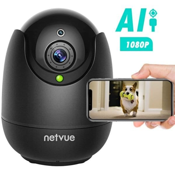 1080p Wireless Dog Camera w/ Night Vision and Alexa Built-in