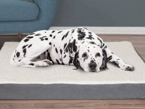 Orthopedic Sherpa-Top Pet Bed with Memory Foam