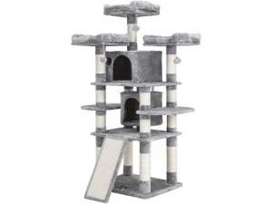 FEANDREA 67 inch Multi-Level Cat Tree for Large Cats