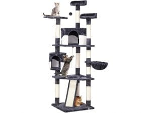 Yaheetech Multi-Level Cat Tree with Scratching Posts, Plush Perches and Condo